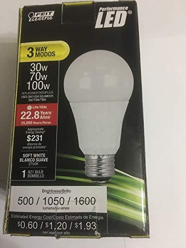 Feit Electric A30/100/LEDG2 30/70/100W Equivalent Soft White A21 3-Way LED Light Bulb (1 Pack)