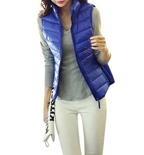 宿不毛からに変化するYueLian 春秋 レディース 中綿ベスト 防風 ジャケット 袖なし 防寒 シンプル アウター