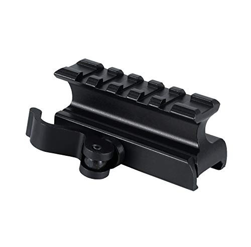 - Monstrum Picatinny Riser Mount for Red Dots and Optics | 2.5 inch with Quick Release | High Profile