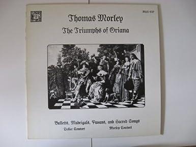 Thomas Morley Triumphs of Oriana Record LP MHS 4137 - Amazon com Music