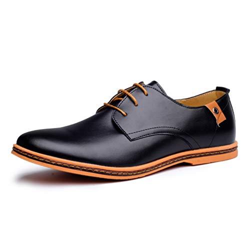 Zapatos Negro Hombres Moda Planos Pie Casual Dedo Zapatos De del Hombres De Vestir CóModo Redondo Oficina PwraqPxZ7