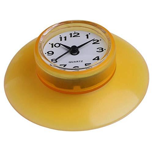 Alarm Clocks - Creative Mini Waterproof Bathroom Shower Wall Clock Suction Cup Fridge Decoration - Plug Made Electric Pleasant Large Cute Charging Radio Setting Batteries Relaxation Back Tim