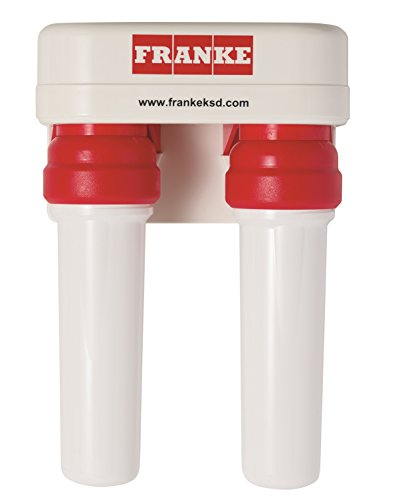 Franke FRCNSTR-DUO-1 Dual Canister Multi-Stage Under Sink Water Filtration System, Includes FRC06 and FRC09 Filters