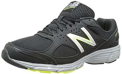 New Balance Men's M550V1 Running Shoe,Black/Silver,8 D US