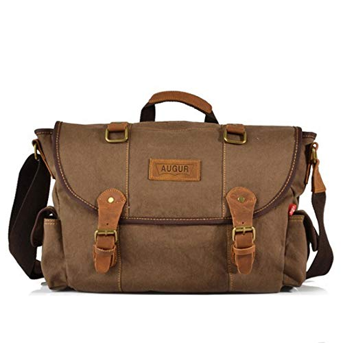 Bolsa Simple Coffee Marrón Maletín Canvas Retro De Bag color Hombro Color Color Color Felicipp Messenger Zip nqxFXwaX
