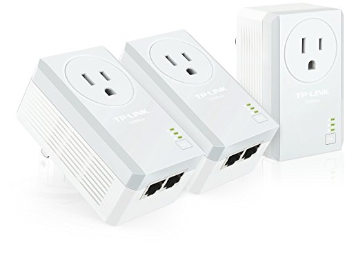 TP-Link AV500 2-Port Powerline Adapter w/ Power Outlet Pass-Through 3-Pack Kit, Up to 500Mbps (TL-PA4020P TKIT)
