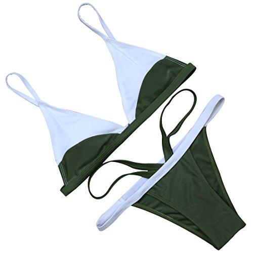 MOOSKINI Womens Padded Brazilian Swimsuit