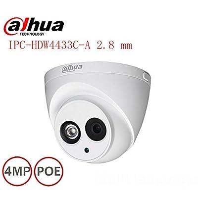 Dahua 4MP IR Eyeball Network Camera IPC-HDW4433C-A POE 2.8 mm Lens H265 Network Dome Camera from HD-IPC