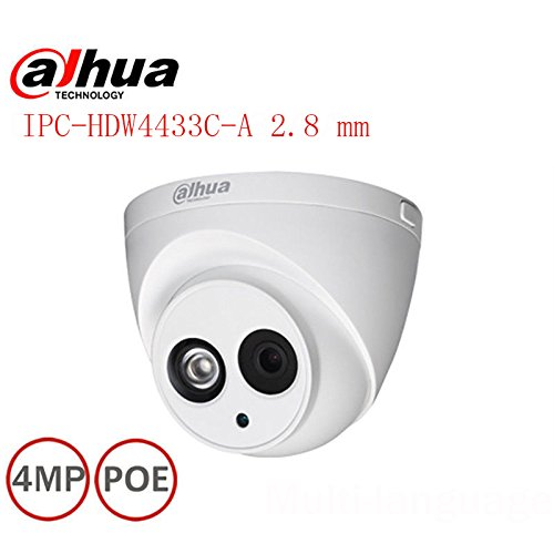 Dahua 4MP IR Eyeball Network Camera IPC-HDW4433C-A POE 2.8 mm Lens H265 Network Dome Camera by HD-IPC