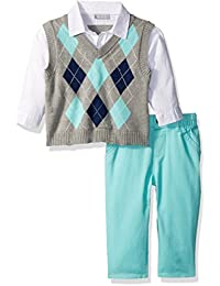 The Children's Place Baby-Boys' Li'l Guy's Argyle Sweater Set