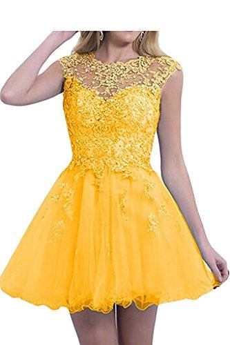 Spitze Dunkel Rock Damen Abendkleider Pink mia La Mini Promkleider Herrlich Gelb Cocktailkleider Kurz Braut Ballkleider Tanzenkleider ngXxf