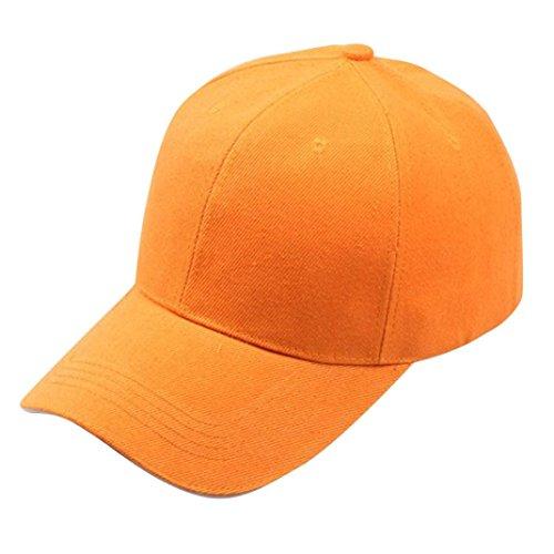 Cotton Hip-Hop Hat Baseball Cap Snapback Hat for Women & Men Adjustable Dads Caps Gabardine Cap (Orange) - Traditional Bump Cap