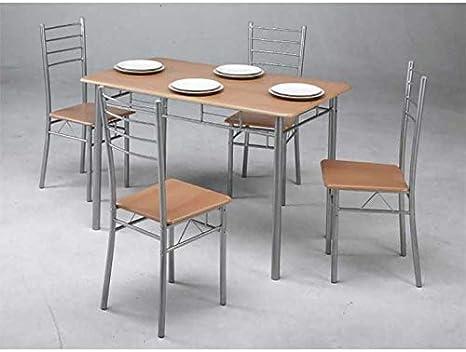 Kit Closet 701039001 Insieme di tavolo da cucina + 4 sedie