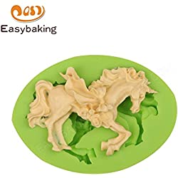 1 piece Fairy Princess Dress Horse Oval Silicone Mold Fondant Cake Decorating Tools Chocolate Gumpaste Mould for Art and Craft
