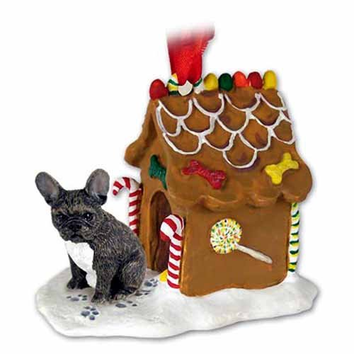 - Conversation Concepts French Bulldog Gingerbread House Ornament