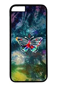 Colorful Butterfly Slim Hard For SamSung Galaxy S6 Case Cover Case PC Black Cases