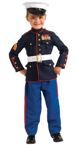 Marine Costume For Girls (Marine Dress Blues Child Costume -)