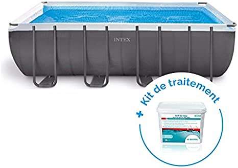 RAVIDAY Pack Piscina Tubular Intex Ultra Silver: 5,49 x 2,74 x 1 ...