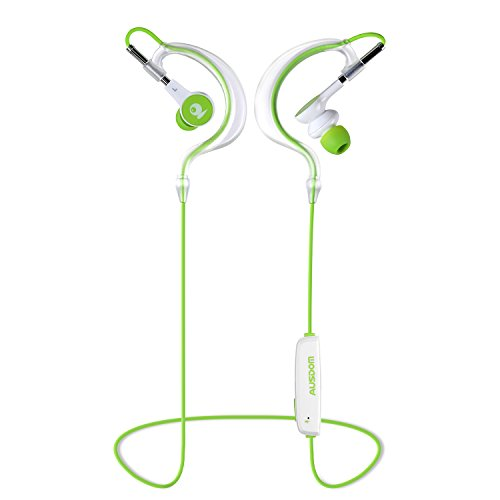 Bluetooth Headphone, Ausdom S10 Bluetooth 4.1 Wireless Sport Headphones Bluetooth Earpiece Bluetooth Earphone Stereo Headsets Hands-free Calling Earbuds (Green & White)