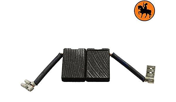 2.4x6.3x9.1 6,3x16x23mm Escobillas de Carb/ón para BLACK /& DECKER P5921 amoladora