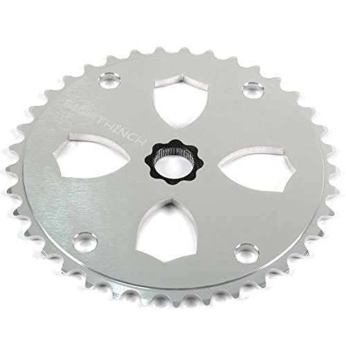 EIGHTHINCH FIXED GEAR FREESTYLE FGFS BMX SPLINE DRIVE SPROCKET 37T SILVER