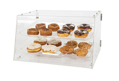 """Premier Choice by 1Dealz, 2 Tray Bakery Display Case with Front and Rear Doors Length: 21"""" X Width: 17""""x Height: 12"""""""