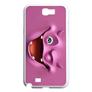 Custom Funny Face Design Plastic Case for Samsung Galaxy Note 2