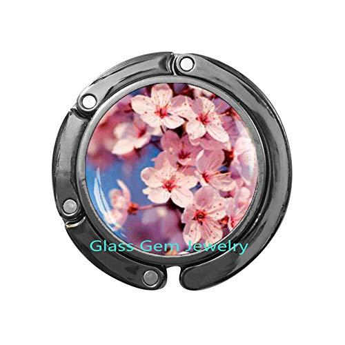 Sakura Blossom Purse Hook, Cherry Blossom Bag Hook, Cherry Blossom Jewelry, Spring Flower Jewelry, Bag Hookk Cherry Bloom Bag Hook,Q0047 (Y3) ()