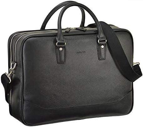 平野鞄 ビジネスバッグ メンズ ブリーフケース B4 A4 2ルーム 2室式 ショルダー付き 2way 黒 ブラック 通勤 ビジネス 横幅42cm +オリジナル高級ムートングローブ