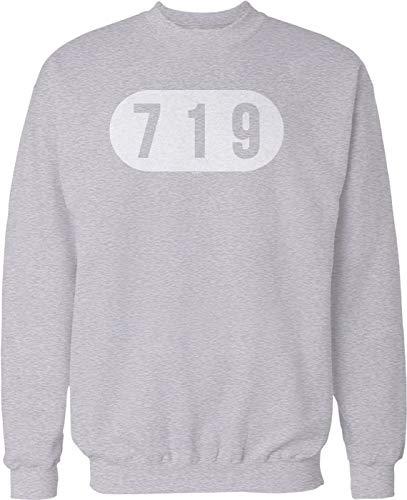 Hoodteez 719 Colorado Springs Crew Neck Sweatshirt, XXL LtGray (Best Breweries In London)