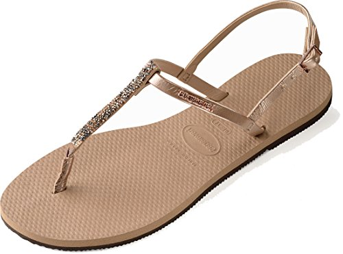 Women's Embellished Riviera Sandals Strap Havaianas Swarovski You Gold Rose Crystal SqYxWwdI
