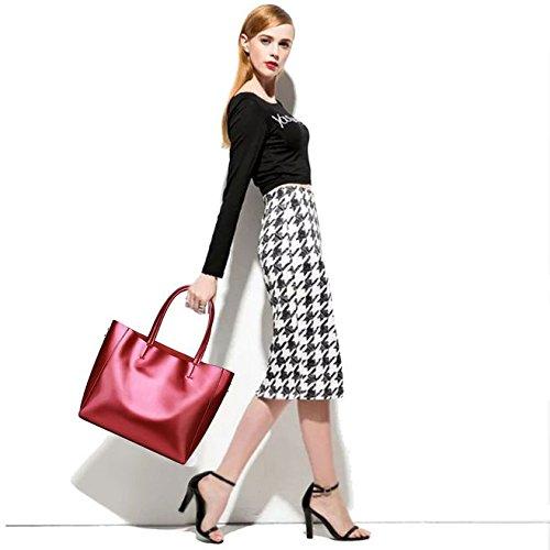 Mujeres Cuerpo De Retro Elegante Cruzada Mano Simple Moda Bolso Moderna Bolsa Rojo Sansji 5IqwzPXU