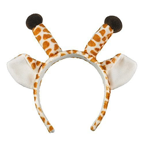Wildlife Artists Giraffe Ears & Horns Headband Costume Hat ()