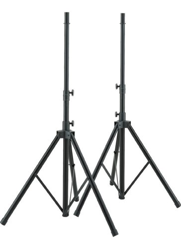 by Hamilton SR7507002 Aluminum Speaker Stand with Adapter - Black - 2 Pieces (Hamilton Speaker Stand)