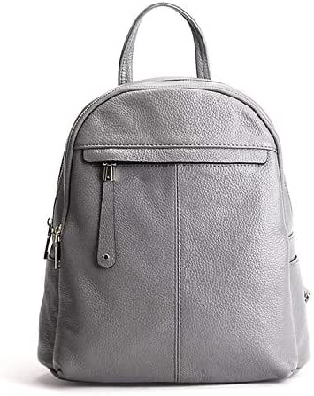 Perilla Fire 9 Color Fashion Soft Genuine Leather Women Ladies Girls Backpack Top Layer Cowhide School Bag Female,Gray