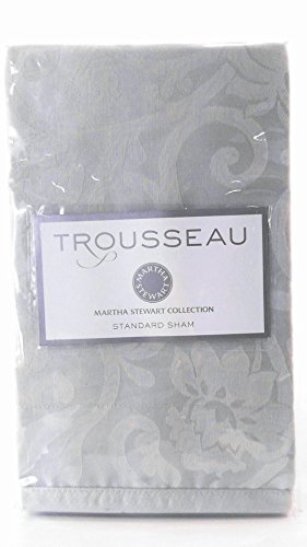 Martha Stewart Circa Cotton Jacquard Pillow Sham Green Standard ()