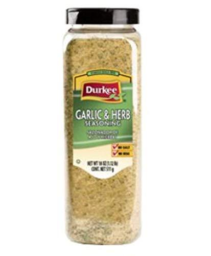 Durkee Garlic & Herb Salt-Free Seasoning - 18 oz. container, 6 per case