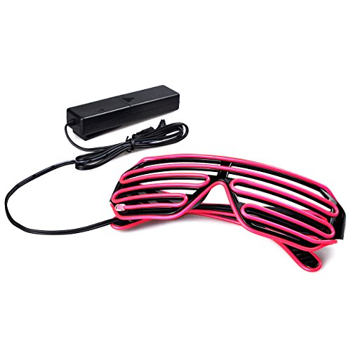 low-cost Aquat Light Up Shutter LED Neon Rave Glasses El Wire DJ ...
