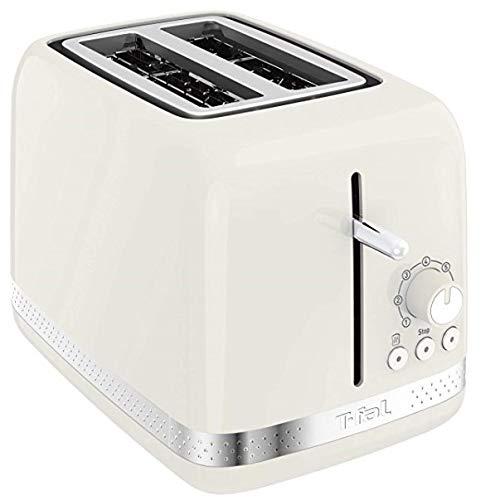 TEFAL Soleil TT303AKR 2-Slice Toaster 7 browning levels Extra Wide Slot for Bagels, Ivory Cream White