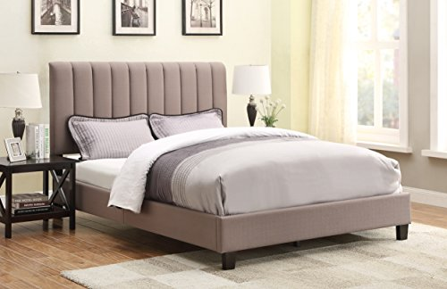 Pulaski Robinson Upholstered All-in-One Bed, Queen, Sterling Taupe