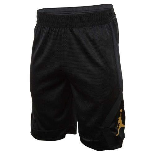 f2d482e1849e Nike Mens Jordan Rise Diamond Basketball Shorts Black Gold ...