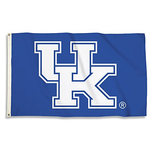 NCAA Kentucky Wildcats 3 X 5 Foot Flag with Grommets, Royal, -