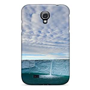 DJKziOT1092PmtFv Anti-scratch Case Cover MichelleNCrawford Protective Cloudy Blue Sky Over Icy Falls Case For Galaxy S4