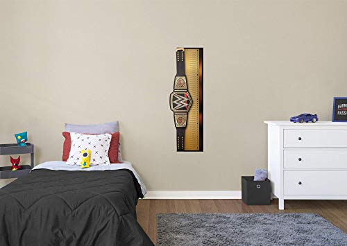 (FATHEAD World Title Belt Growth Chart-Large Officially Licensed WWE Removable Wall Decal, Multicolor)