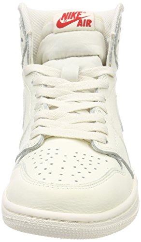 Jordan Air High Retro University Divers Chaussures Homme Noir Blanc de Gymnastique 1 Red OG Nike 5Bqw15