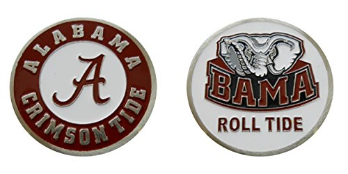 "Collectible Challenge Coin- Logo Poker - Lucky Chip for University of Alabama ""Crimson Tide - Roll Tide"" Alabama Game Day Chip"