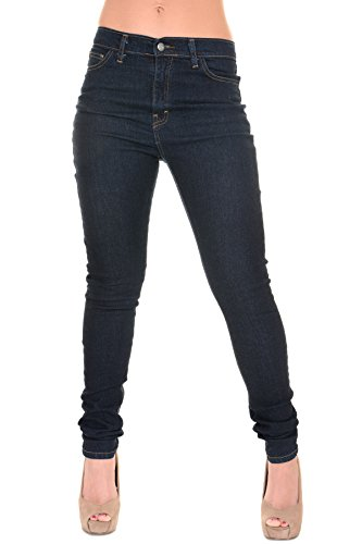 Run-Fly-Ladies-50s-60s-Rockabilly-Retro-High-Rise-Stretch-Super-Skinny-Jeans