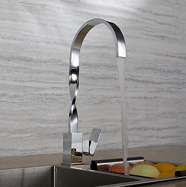 Contemporary Art Deco Retro Moderne Standard Auslauf hoch High Arc Deck montiert Wasserfall breitgefächert Thermostat Keramik Ventil Chrom,