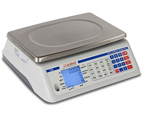 CardinalScales C6 11.38 x 8.25 in. C Series Counting Electronic Scale44; 6 lbs