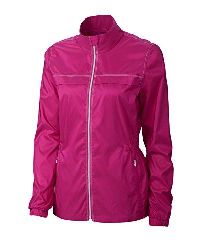 Cutter & Buck Womens Cb Weathertec L/S Jade Full Zip Jacket, Ribbon Pink-L